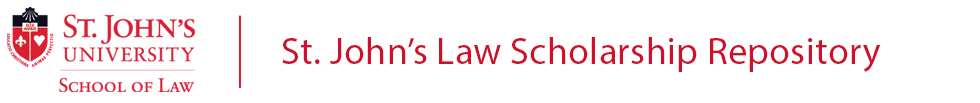 St. John's Law Scholarship Repository
